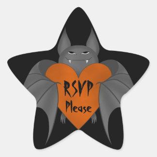 Funny amorous Halloween vampire bat rsvp Stickers