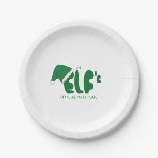 Funny. An Elf's Official Party 7 Inch Paper Plate