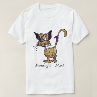 Funny and Angry Looking Cat With Eye Patch T-Shirt