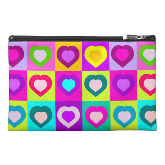 funny and colorful hearts travel accessories bags