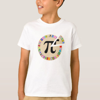 Funny and Colourful Piece of Pi Calculated T-Shirt