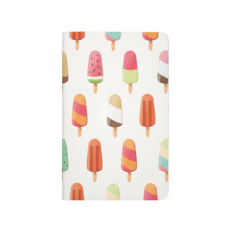 Funny and cute colored ice creams pattern journal