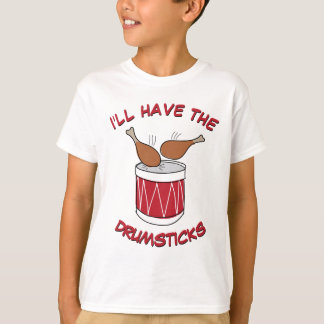 Funny and Cute Drumsticks Thanksgiving Drawing T-Shirt