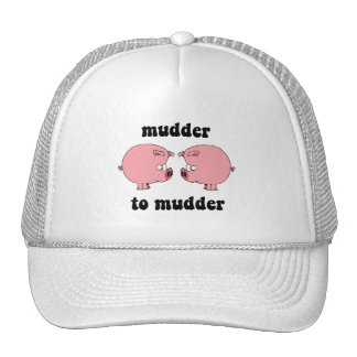 Funny and cute pigs trucker hat