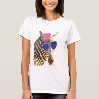 Funny and cute zebra animal watercolor T-Shirt