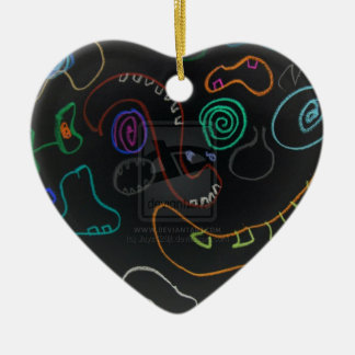 Funny and Face Ceramic Heart Decoration