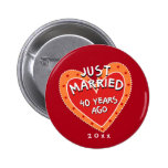 Funny and Romantic 40th Anniversary 6 Cm Round Badge
