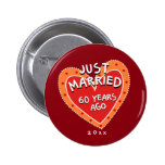Funny and Romantic 60th Anniversary 6 Cm Round Badge