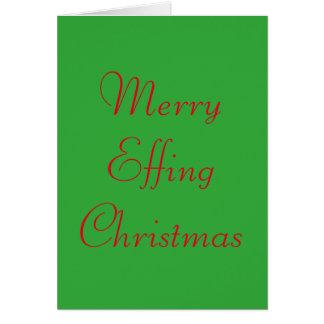 Funny and Rude Christmas Card