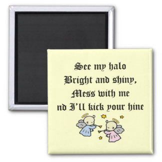 Funny Angels T-shirts Gifts Square Magnet