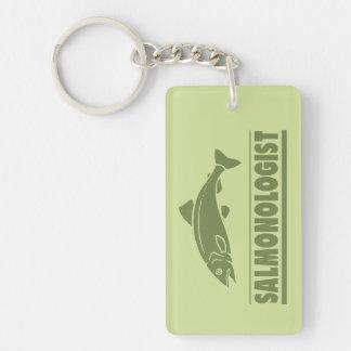 Funny Angler's Salmon Fishing Key Ring