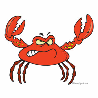 funny angry crabby red crab acrylic cut out