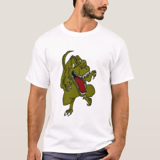 Funny Angry Dinosaur Men's T-shirt