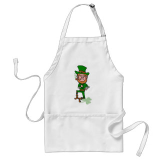 Funny Angry Lucky Irish Leprechaun Aprons
