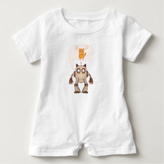 Funny Angry Neon Cat With Gamepad Controller Baby Bodysuit