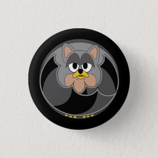Funny animal, bat 3 cm round badge