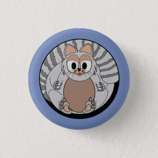 Funny animal, cat 3 cm round badge