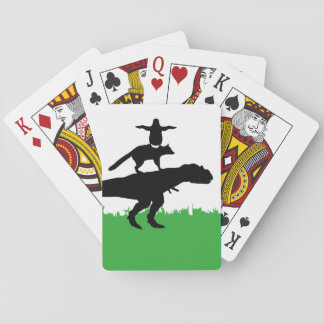 funny animal dinosaur fox penguin pyramid playing cards