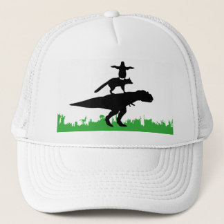 funny animal dinosaur fox penguin pyramid trucker hat