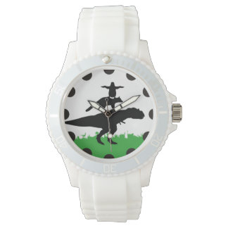 funny animal dinosaur fox penguin pyramid watch