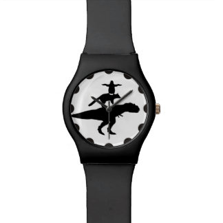 funny animal dinosaur fox penguin pyramid wristwatch