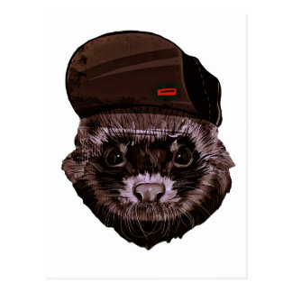 Funny Animal with Hat Postcard