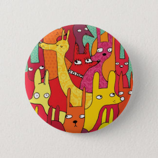 Funny animals 6 cm round badge