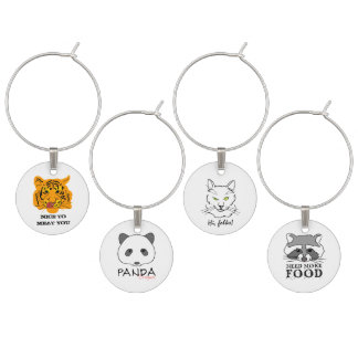 Funny Animals Wine Charm