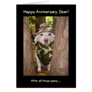 Funny Anniversary from Wife of Hunter Greeting Card