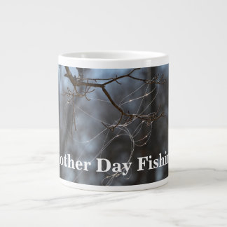 Funny Another Day Fishing Tangled Line On A Tree Large Coffee Mug