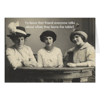 Funny Anti-Friendship Card