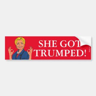 Funny Anti Hillary Clinton Bumper Sticker