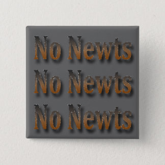 Funny Anti Newt Gingrich Chant 15 Cm Square Badge