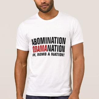 Funny anti-Obama Abomination Obamanation Shirt