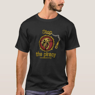Funny anti-piracy t-shirt