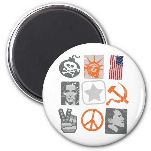 Funny antiobama historical icons magnet