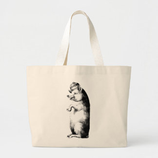 Funny Antique Crowned Pig on Tote Bag