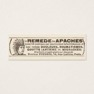 Funny Antique Quack Doctor Apache Remedy Mini Business Card