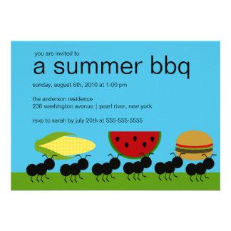 Funny ANTS Summer BBQ Bash Invitation