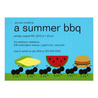 Funny ANTS Summer BBQ Bash Invitation