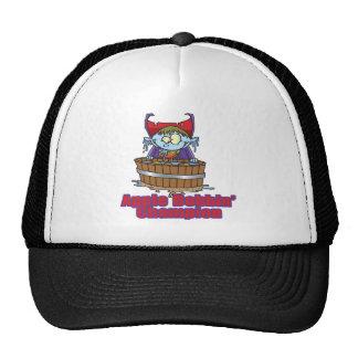 funny apple bobbing champion cartoon mesh hat