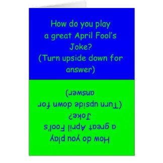 Funny April Fool's Day Joke Card