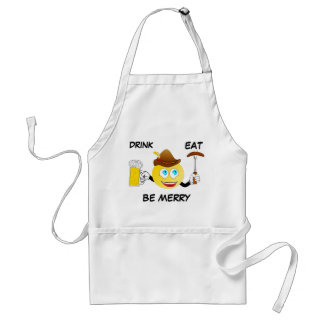 Funny Apron Drink, Eat, Be Merry