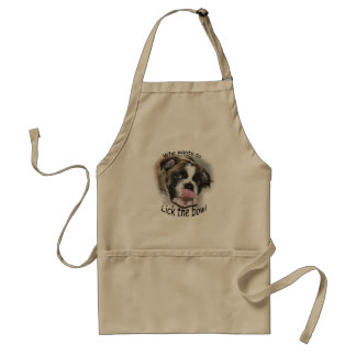Funny apron with bulldog tongue out