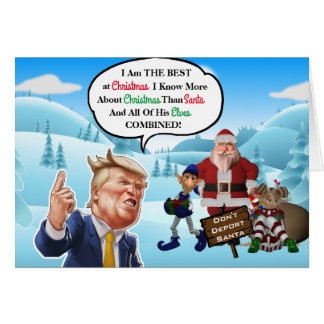 Funny Arrogant Trump Christmas Card