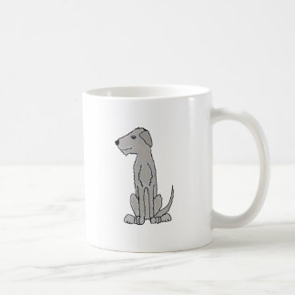 Funny Artistic Irish Wolfhound Art Coffee Mug