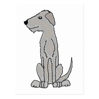 Funny Artistic Irish Wolfhound Art Postcard