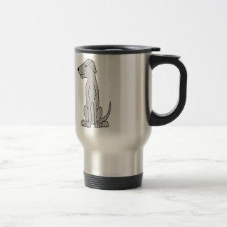 Funny Artistic Irish Wolfhound Art Travel Mug