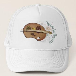 Funny Artists Palette Work In Progress Trucker Hat