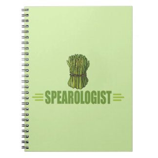 Funny Asparagus Spiral Note Books